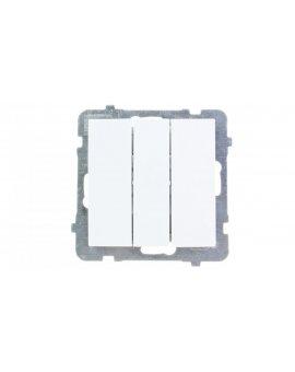 AS Łącznik potrójny biały ŁP-13G/m/00