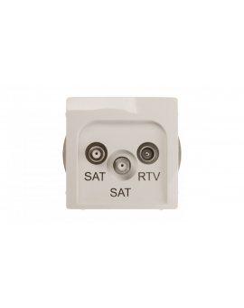 Simon Basic Gniazdo antenowe SAT/SAT/RTV końcowe białe BMZAR+SAT3.1-P2.01/11