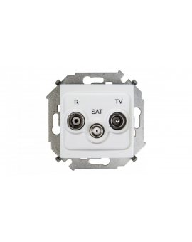 Simon 15 Gniazdo antenowe RD/TV/SAT końcowe białe 1591466-030