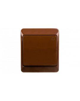 Hermes Przycisk hermetyczny dzwonek 10A IP44 brązowy 0337-06