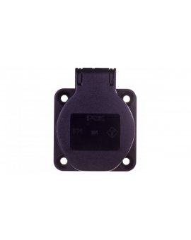 Gniazdo tablicowe 10/16A 2P+Z 230V czarne IP54 104-0ss