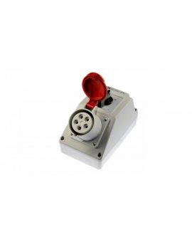 Zestaw instalacyjny z gniazdem 16A 5P (L-0-P) czerwony ZI02\R221