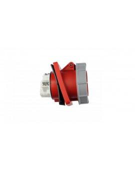 Gniazdo tablicowe skośne 63A 5P 400V /100x112/ czerwone IP67 POWER TWIST 435-6