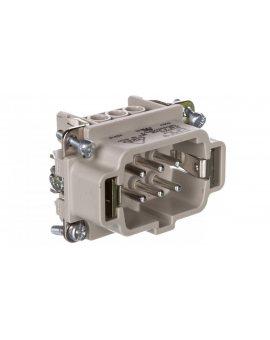 Wkład złącza 6P+PE męski 16A 500V EPIC H-BE 6 SS 10190000