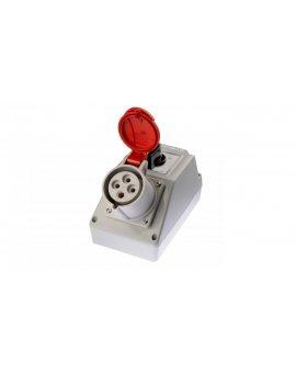 Zestaw instalacyjny z gniazdem 32A 4P (L-0-P) czerwony ZI02\R361
