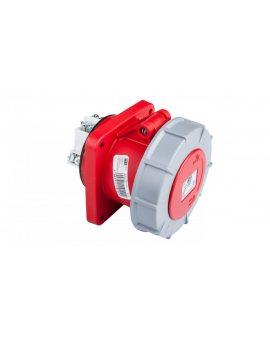 Gniazdo tablicowe 63A 5P 400V /100x100/ czerwone IP67 POWET TWIST 335-6