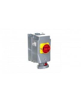 Zestaw instalacyjny z gniazdem 63A 5P (0-1) czerwony 135-6w