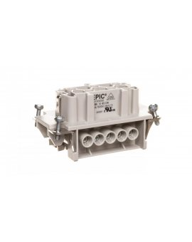 Wkład złącza 10P+PE żeński 16A 500V EPIC H-BE 10 BS 10193000