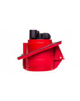 Gniazdo tablicowe skośne 32A 4P 400V czerwone IP44 TWIST 424-6
