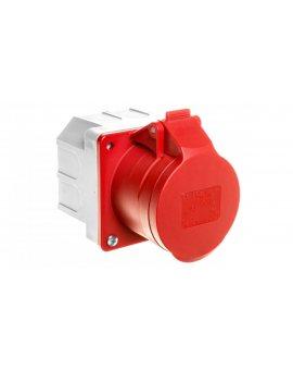 Gniazdo tablicowe z puszką 16A 5P 400V czerwone IP44 315-6p