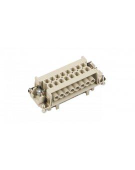 Wkład złącza 16P+PE żeński 16A 500V EPIC H-BE 16 BS DR 10195000