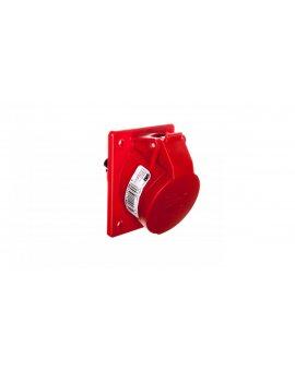 Gniazdo tablicowe skośne 16A 4P 400V /70x85/ czerwone IP44 TWIST 414-6