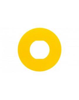 Tabliczka opisowa żółta okrągła fi60 bez opisu ZBY9101