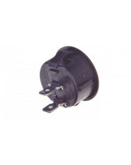 Wyłącznik okrągły kołyskowy R13 6A 230V czarny 07-00-02-09-0003