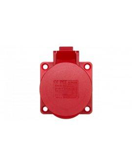 Gniazdo tablicowe 16A 5P 400V /70x70/ czerwone IP44 315-6