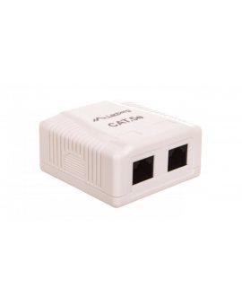 Gniazdo teleinformatyczne natynkowe UTP 2xRJ45 kat.5e OU5-0002-W