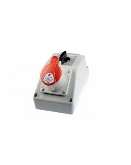 Zestaw instalacyjny z gniazdem 16A 4P (0-1) czerwony ZI02\R111