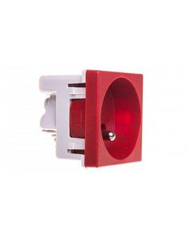 Simon Connect Gniazdo K45 pojedyncze z/u 16A IP20 czerwone K02/