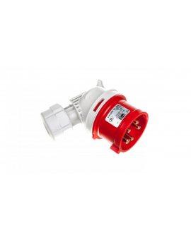 Wtyczka przenośna kątowa 16A 5P 400V czerwona IP44 TWIST 8015-6