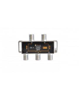 Rozdzielacz sygnału SAT splitter 1x F / 4x F Power Pass LB0047 LIBOX