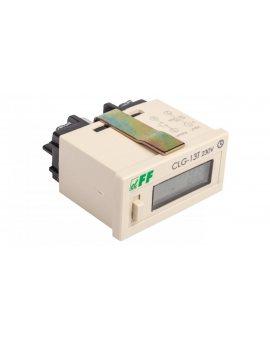 Licznik czasu pracy 110-240V AC/DC 6 znaków cyfrowy tablicowy 48x24mm CLG-13T 230V