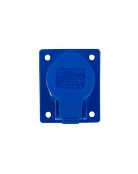 Gniazdo tablicowe skośne 16A 3P 230V niebieskie IP44 TWIST 413-6