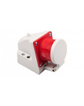 Wtyczka odbiornikowa z klapką 16A 5P 400V czerwona IP44 515-6d