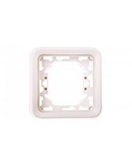 PLEXO55 Ramka pojedyncza biały / ecru 069692