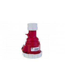Gniazdo przenośne 16A 5P 400V czerwone IP67 SHARK 2152-6