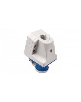 Wtyczka odbiornikowa z klapką 16A 3P 230V niebieska IP44 513-6d