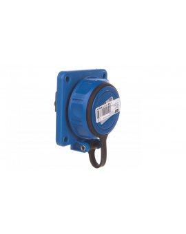 Gniazdo tablicowe 10/16A 2P+Z 230V /75x75/ niebieskie IP68 NAUTILUS 20341-8b