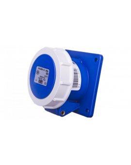 Gniazdo tablicowe 16A 3P 230V /75x75/ niebieskie IP67 POWER TWIST 3132-6