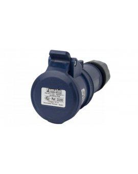 Gniazdo przenośne 16A 3P 230V niebieskie IP44 TOP SpeedPRO 23200