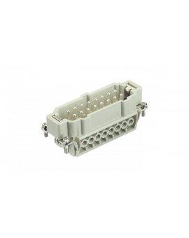 Złącze śrubowe (wkład) (0, 75-2, 5 mm2) 16+PE męskie 500V 16A Han E 09330162601