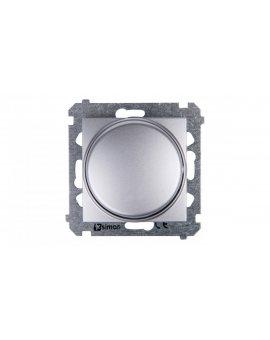 Simon 54 Ściemniacz naciskowo-obrotowy 20-500W srebrny mat DS9T.01/43