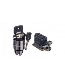 Przełącznik 2 położeniowy klucz 22mm czarny 1Z bez samopowrotu XB4BG41