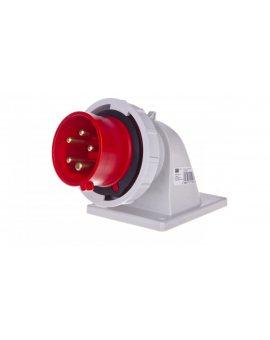 Wtyczka tablicowa kątowa 16A 5P 400V czerwona IP67 TWIST 777152-6