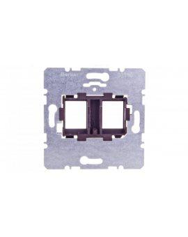 Berker/B.Kwadrat Płytka nośna podwójna z brązowym elementem mocującym 454107
