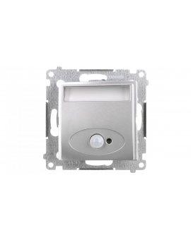 Simon 54 Oprawa oświetleniowa LED 230V z czujnikiem ruchu srebrny mat 3100K DOSC.01/43