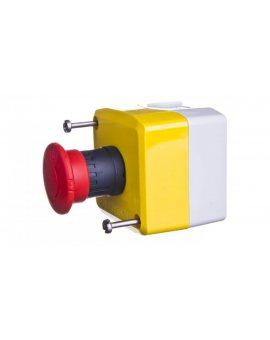 Kaseta z przyciskiem bezpieczeństwa przez obrót 1Z 2R żółta IP65 XALK178G