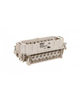 Wkład złącza 16P+PE męski 16A 500V EPIC H-BE 16 SS 17-32 10202000