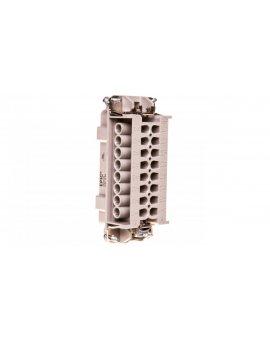 Wkład złącza 16P+PE męski 16A 500V EPIC H-BE 16 SS 1-16 10194100