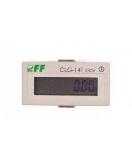 Licznik czasu pracy 110-230V AC/DC 8 znaków cyfrowy tablicowy 48x24mm CLG-14T