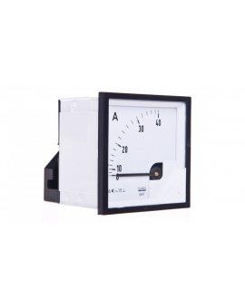 Amperomierz analogowy tablicowy 40A 72x72mm IP50 C3 K=90 st. EA17N E21100000000