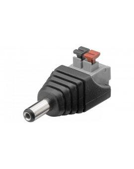 Wtyk DC (5, 50 x 2, 10mm) - mocowanie zaciskowe push-down 76748 /10szt./