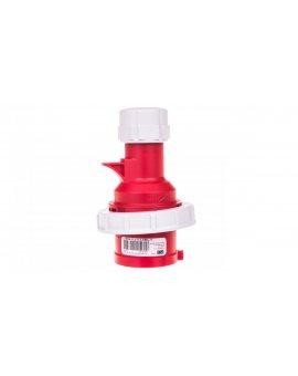 Wtyczka przenośna (zwrotnica faz) 16A 5P 400V czerwona IP67 SHARK 70152-6