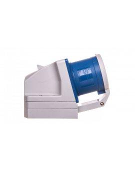 Wtyczka odbiornikowa z klapką 32A 3P 230V niebieska IP44 523-6d