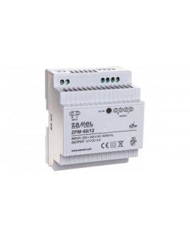 Zasilacz impulsowy TH-35 60W 12V DC ZPM-60/12 EXT10000210