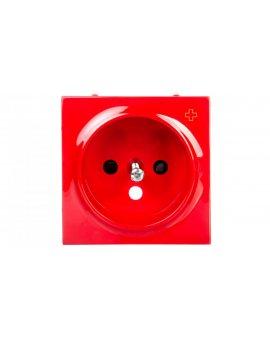 Simon 54 Pokrywa gniazda pojedynczego z przesłonami antybakteryjna czerwona DGZ1ZP/AB22