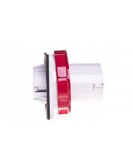 Wtyczka odbiornikowa 63A 5P 400V czerwona IP67 81883